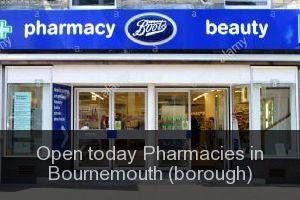 Open today Pharmacies in Bournemouth (borough)