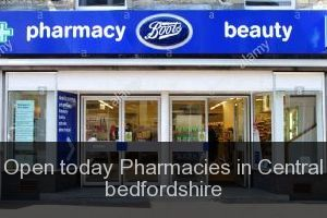 Open today Pharmacies in Central bedfordshire