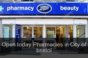 Open today Pharmacies in City of bristol
