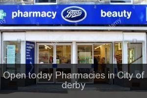 Open today Pharmacies in City of derby