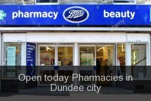 Open today Pharmacies in Dundee city