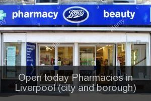 Open today Pharmacies in Liverpool (city and borough)