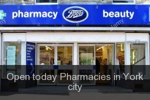 Open today Pharmacies in York city
