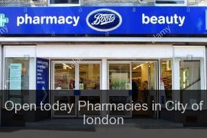 Open today Pharmacies in City of london