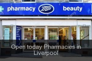 Open today Pharmacies in Liverpool
