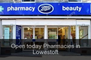 Open today Pharmacies in Lowestoft