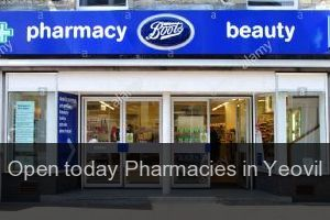 Open today Pharmacies in Yeovil